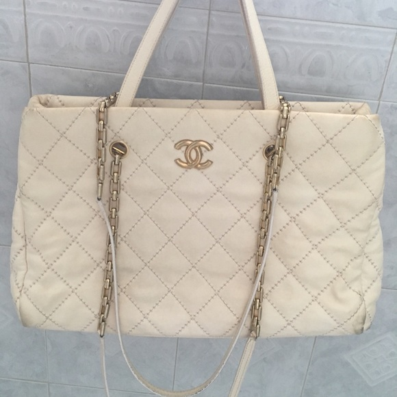 fdd013128bd3 CHANEL Bags | A Steal Authentic Offwhite Large Tote | Poshmark